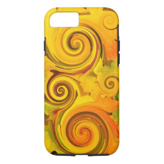 Autumn Colors Fall Leaves Swirls iPhone 7 Case