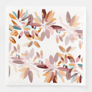 Autumn colors foliage print paper serviettes
