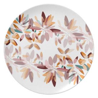 Autumn colors foliage print plate
