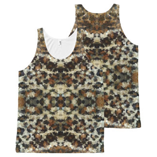Autumn Colors Funny Mosaic Pattern All-Over Print Tank Top