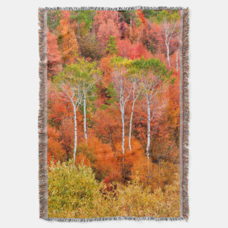 Autumn Colors In Rocky Mountains, Wyoming, USA Throw Blanket