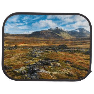 Autumn colors on the landscape car mat