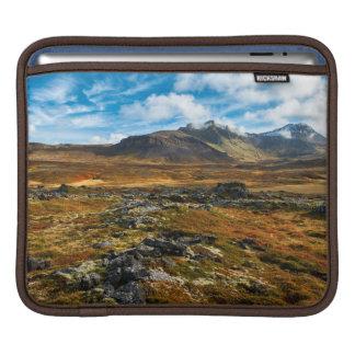 Autumn colors on the landscape iPad sleeves