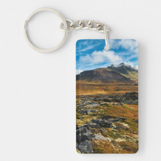 Autumn colors on the landscape key ring