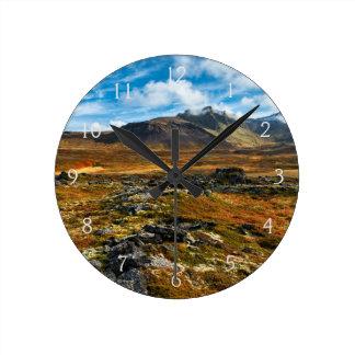 Autumn colors on the landscape round clock