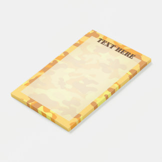 Autumn Colors Orange and Yellow Camouflage Print Post-it Notes