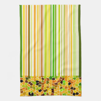 Autumn Colors Orange Red Yellow Apple Green Brown Tea Towel