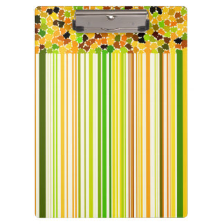 Autumn Colors Orange Red Yellow Apple Green Coffee Clipboard