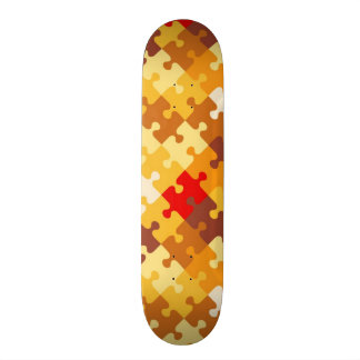 Autumn colors puzzle background 21.3 cm mini skateboard deck