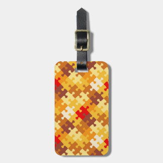 Autumn colors puzzle background luggage tag