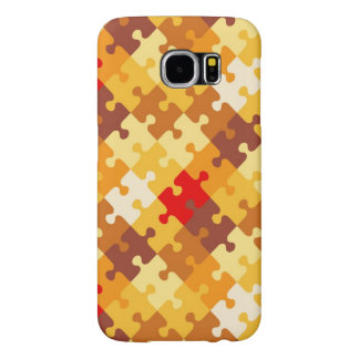 Autumn colors puzzle background samsung galaxy s6 cases