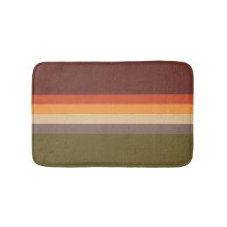 Autumn Colors - Red Orange Yellow Tan Green Brown Bath Mat