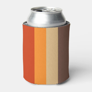 Autumn Colors - Red Orange Yellow Tan Green Brown Can Cooler