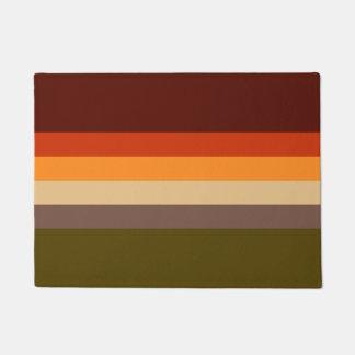 Autumn Colors - Red Orange Yellow Tan Green Brown Doormat