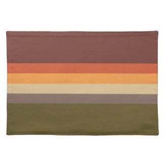 Autumn Colors - Red Orange Yellow Tan Green Brown Placemat