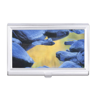 Autumn colors reflected in a wading pool, business card holder