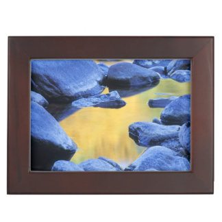 Autumn colors reflected in a wading pool, keepsake box