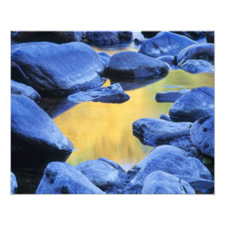 Autumn colors reflected in a wading pool, photo