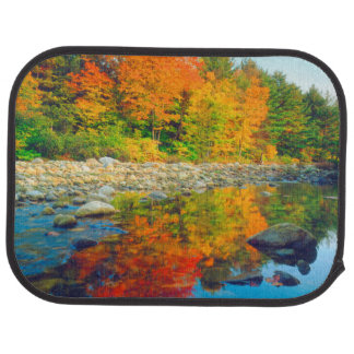 Autumn Colors reflecting in a stream in Vermont Car Mat