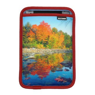 Autumn Colors reflecting in a stream in Vermont iPad Mini Sleeve