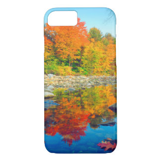 Autumn Colors reflecting in a stream in Vermont iPhone 8/7 Case