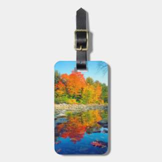 Autumn Colors reflecting in a stream in Vermont Luggage Tag