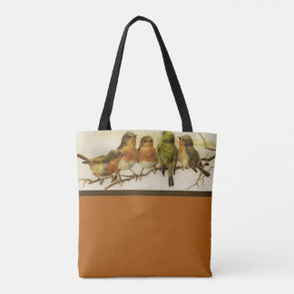 Autumn Colors Singing Birds Tote Bag