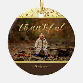 Autumn Colors, Thankful Photo Christmas Ornament