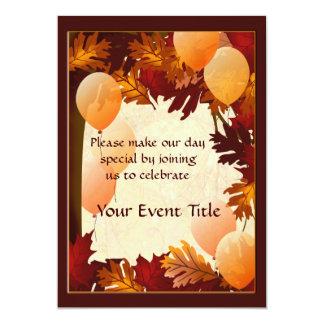 Autumn Colors Tree Leaves Custom Party 13 Cm X 18 Cm Invitation Card