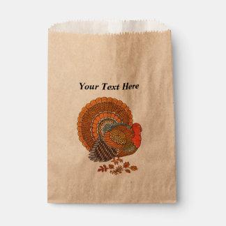 Autumn Colors Turkey Leaves Thanksgiving Favour Bags