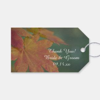 Autumn Colors Wedding Favor Tags