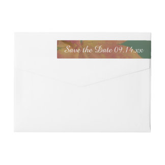 Autumn Colors Wedding Save the Date Wrap Around Label