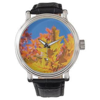 Autumn colors wristwatch