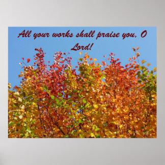 Autumn colours 4 poster