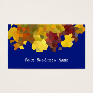 Autumn Colours Abstract Business Card