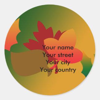 Autumn colours address label