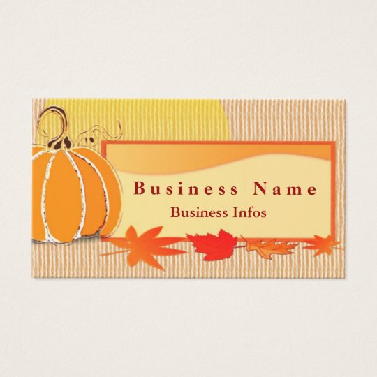 Autumn Colours Business Card