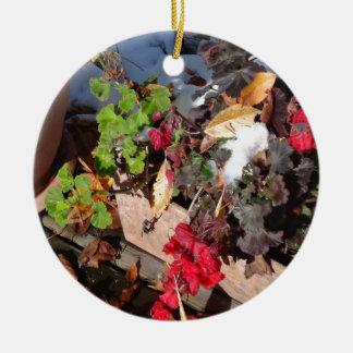 autumn colours christmas tree ornament