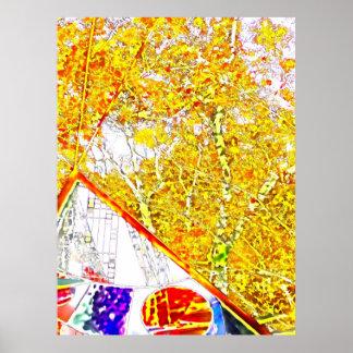 Autumn Colours in Solitude Poster