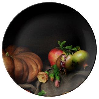 Autumn colours porcelain plate