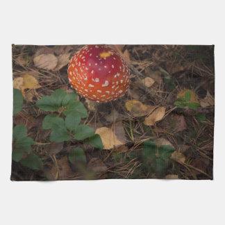 Autumn colours tea towel
