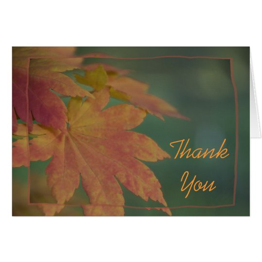 Autumn Colours Thank You Card