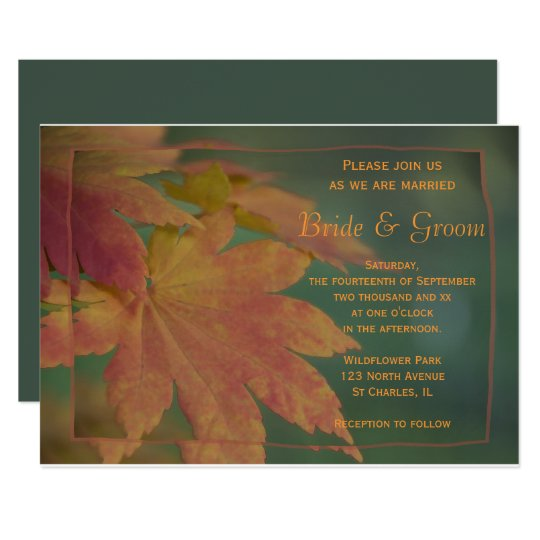 Autumn Colours Wedding Invitation