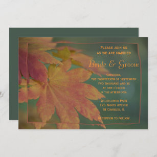 Autumn Colours Wedding Invitation