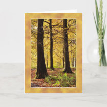 Autumn Colours woodland scene Card