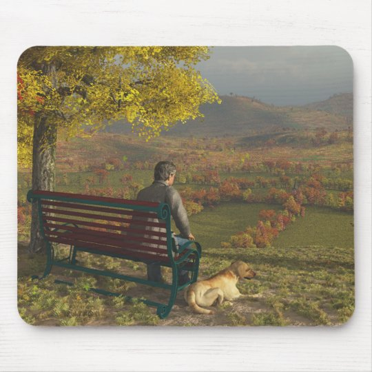 Autumn Companions Mousepad