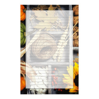 Autumn Composition In Wooden Box Custom Stationery