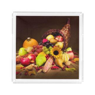 Autumn Cornucopia Acrylic Tray