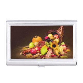 Autumn Cornucopia Business Card Holder