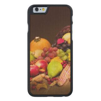 Autumn Cornucopia Carved Maple iPhone 6 Case